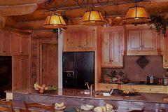 Dool chink style log Laramie Wyoming custom home builder handcrafted details (3) - Deerwood Log Homes - Custom Built Homes and Cabins - Laramie, Wyoming and The Centennial Valley - deer-wood.com - (307) 742-6554