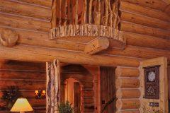 Dool chink style log Laramie Wyoming custom home builder handcrafted details (7) - Deerwood Log Homes - Custom Built Homes and Cabins - Laramie, Wyoming and The Centennial Valley - deer-wood.com - (307) 742-6554