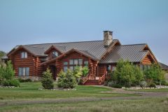 Dool chink style log Laramie Wyoming custom home builder handcrafted details (9) - Deerwood Log Homes - Custom Built Homes and Cabins - Laramie, Wyoming and The Centennial Valley - deer-wood.com - (307) 742-6554