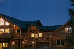 Grzy chink style log Centennial Wyoming custom home builder handcrafted details (1) - Deerwood Log Homes - Custom Built Homes and Cabins - Laramie, Wyoming and The Centennial Valley - deer-wood.com - (307) 742-6554