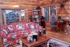 Horn chink style log Laramie Wyoming custom home builder handcrafted details (12) - Deerwood Log Homes - Custom Built Homes and Cabins - Laramie, Wyoming and The Centennial Valley - deer-wood.com - (307) 742-6554