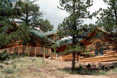 Horn chink style log Laramie Wyoming custom home builder handcrafted details (2) - Deerwood Log Homes - Custom Built Homes and Cabins - Laramie, Wyoming and The Centennial Valley - deer-wood.com - (307) 742-6554