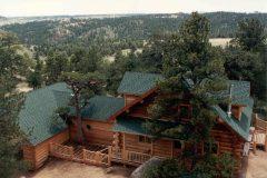 Horn chink style log Laramie Wyoming custom home builder handcrafted details (3) - Deerwood Log Homes - Custom Built Homes and Cabins - Laramie, Wyoming and The Centennial Valley - deer-wood.com - (307) 742-6554
