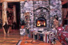 Horn chink style log Laramie Wyoming custom home builder handcrafted details (7) - Deerwood Log Homes - Custom Built Homes and Cabins - Laramie, Wyoming and The Centennial Valley - deer-wood.com - (307) 742-6554