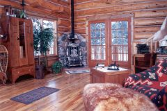 Horn chink style log Laramie Wyoming custom home builder handcrafted details (9) - Deerwood Log Homes - Custom Built Homes and Cabins - Laramie, Wyoming and The Centennial Valley - deer-wood.com - (307) 742-6554