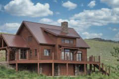 Lap conventional hybrid timber frame accents Centennial Wyoming custom home builder (1) - Deerwood Log Homes - Custom Built Homes and Cabins - Laramie, Wyoming and The Centennial Valley - deer-wood.com - (307) 742-6554