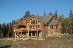 Writ chink style log Steamboat Springs Colorado custom home builder handcrafted details (1) - Deerwood Log Homes - Custom Built Homes and Cabins - Laramie, Wyoming and The Centennial Valley - deer-wood.com - (307) 742-6554