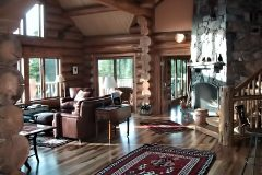 Writ chink style log Steamboat Springs Colorado custom home builder handcrafted details (6) - Deerwood Log Homes - Custom Built Homes and Cabins - Laramie, Wyoming and The Centennial Valley - deer-wood.com - (307) 742-6554