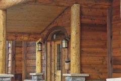 Bec conventional hybrid log stone accents Centennial Wyoming custom home builder (2) - Deerwood Log Homes - Custom Built Homes and Cabins - Laramie, Wyoming and The Centennial Valley - deer-wood.com - (307) 742-6554