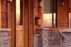 Bec conventional hybrid log stone accents Centennial Wyoming custom home builder (4) - Deerwood Log Homes - Custom Built Homes and Cabins - Laramie, Wyoming and The Centennial Valley - deer-wood.com - (307) 742-6554