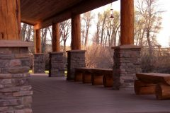 Bec conventional hybrid log stone accents Centennial Wyoming custom home builder (5) - Deerwood Log Homes - Custom Built Homes and Cabins - Laramie, Wyoming and The Centennial Valley - deer-wood.com - (307) 742-6554