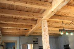 Sper conventional hybrid timber frame accents Centennial Wyoming custom home builder (1) - Deerwood Log Homes - Custom Built Homes and Cabins - Laramie, Wyoming and The Centennial Valley - deer-wood.com - (307) 742-6554