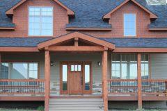 Sper conventional hybrid timber frame accents Centennial Wyoming custom home builder (10) - Deerwood Log Homes - Custom Built Homes and Cabins - Laramie, Wyoming and The Centennial Valley - deer-wood.com - (307) 742-6554