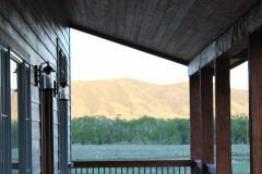 Sper conventional hybrid timber frame accents Centennial Wyoming custom home builder (13) - Deerwood Log Homes - Custom Built Homes and Cabins - Laramie, Wyoming and The Centennial Valley - deer-wood.com - (307) 742-6554