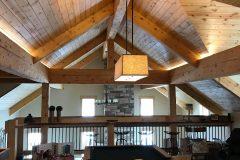 Sper conventional hybrid timber frame accents Centennial Wyoming custom home builder (3) - Deerwood Log Homes - Custom Built Homes and Cabins - Laramie, Wyoming and The Centennial Valley - deer-wood.com - (307) 742-6554