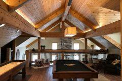 Sper conventional hybrid timber frame accents Centennial Wyoming custom home builder (4) - Deerwood Log Homes - Custom Built Homes and Cabins - Laramie, Wyoming and The Centennial Valley - deer-wood.com - (307) 742-6554