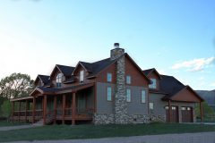 Sper conventional hybrid timber frame accents Centennial Wyoming custom home builder (8) - Deerwood Log Homes - Custom Built Homes and Cabins - Laramie, Wyoming and The Centennial Valley - deer-wood.com - (307) 742-6554