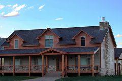 Sper conventional hybrid timber frame accents Centennial Wyoming custom home builder (9) - Deerwood Log Homes - Custom Built Homes and Cabins - Laramie, Wyoming and The Centennial Valley - deer-wood.com - (307) 742-6554