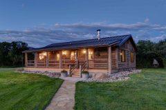 BuckExt log timber frame post & beam hybrid Centennial Wyoming custom home builder (12) - Deerwood Log Homes - Custom Built Homes and Cabins - Laramie, Wyoming and The Centennial Valley - deer-wood.com - (307) 742-6554