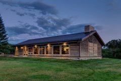 BuckExt log timber frame post & beam hybrid Centennial Wyoming custom home builder (7) - Deerwood Log Homes - Custom Built Homes and Cabins - Laramie, Wyoming and The Centennial Valley - deer-wood.com - (307) 742-6554