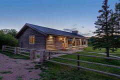 BuckExt log timber frame post & beam hybrid Centennial Wyoming custom home builder (9) - Deerwood Log Homes - Custom Built Homes and Cabins - Laramie, Wyoming and The Centennial Valley - deer-wood.com - (307) 742-6554
