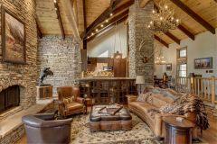 BuckMain renovation remodel log accents Centennial Wyoming custom home builder (4) - Deerwood Log Homes - Custom Built Homes and Cabins - Laramie, Wyoming and The Centennial Valley - deer-wood.com - (307) 742-6554