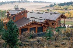 Burt Swedish cope log Centennial Wyoming custom home builder handcrafted details (1) - Deerwood Log Homes - Custom Built Homes and Cabins - Laramie, Wyoming and The Centennial Valley - deer-wood.com - (307) 742-6554