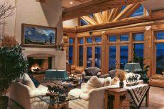 Burt Swedish cope log Centennial Wyoming custom home builder handcrafted details (10) - Deerwood Log Homes - Custom Built Homes and Cabins - Laramie, Wyoming and The Centennial Valley - deer-wood.com - (307) 742-6554