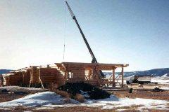 Burt Swedish cope log Centennial Wyoming custom home builder handcrafted details (13) - Deerwood Log Homes - Custom Built Homes and Cabins - Laramie, Wyoming and The Centennial Valley - deer-wood.com - (307) 742-6554