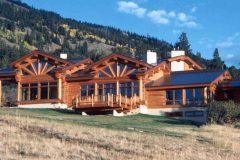 Burt Swedish cope log Centennial Wyoming custom home builder handcrafted details (2) - Deerwood Log Homes - Custom Built Homes and Cabins - Laramie, Wyoming and The Centennial Valley - deer-wood.com - (307) 742-6554