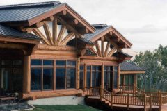 Burt Swedish cope log Centennial Wyoming custom home builder handcrafted details (3) - Deerwood Log Homes - Custom Built Homes and Cabins - Laramie, Wyoming and The Centennial Valley - deer-wood.com - (307) 742-6554