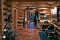 Burt Swedish cope log Centennial Wyoming custom home builder handcrafted details (6) - Deerwood Log Homes - Custom Built Homes and Cabins - Laramie, Wyoming and The Centennial Valley - deer-wood.com - (307) 742-6554