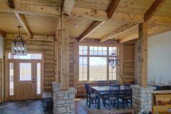 Bab log home timber frame post & beam hybrid Laramie Wyoming custom home builder - 13 - Deerwood Log Homes - Custom Built Homes and Cabins - Laramie, Wyoming and The Centennial Valley - deer-wood.com - (307) 742-6554