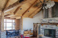 Bab log home timber frame post & beam hybrid Laramie Wyoming custom home builder - 14 - Deerwood Log Homes - Custom Built Homes and Cabins - Laramie, Wyoming and The Centennial Valley - deer-wood.com - (307) 742-6554