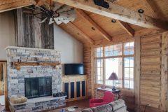 Bab log home timber frame post & beam hybrid Laramie Wyoming custom home builder - 15 - Deerwood Log Homes - Custom Built Homes and Cabins - Laramie, Wyoming and The Centennial Valley - deer-wood.com - (307) 742-6554