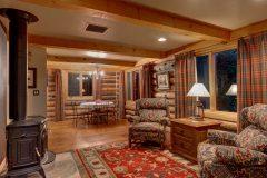BuckGst log timber frame post & beam hybrid Centennial Wyoming custom home builder (1) - Deerwood Log Homes - Custom Built Homes and Cabins - Laramie, Wyoming and The Centennial Valley - deer-wood.com - (307) 742-6554