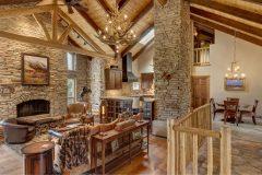BuckMain renovation remodel log accents Centennial Wyoming custom home builder (1) - Deerwood Log Homes - Custom Built Homes and Cabins - Laramie, Wyoming and The Centennial Valley - deer-wood.com - (307) 742-6554