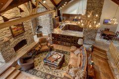 BuckMain renovation remodel log accents Centennial Wyoming custom home builder (3) - Deerwood Log Homes - Custom Built Homes and Cabins - Laramie, Wyoming and The Centennial Valley - deer-wood.com - (307) 742-6554