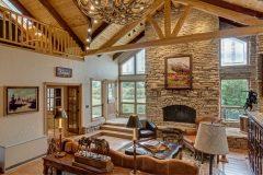 BuckMain renovation remodel log accents Centennial Wyoming custom home builder (5) - Deerwood Log Homes - Custom Built Homes and Cabins - Laramie, Wyoming and The Centennial Valley - deer-wood.com - (307) 742-6554