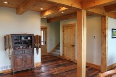 Lap conventional hybrid timber frame accents Centennial Wyoming custom home builder (4) - Deerwood Log Homes - Custom Built Homes and Cabins - Laramie, Wyoming and The Centennial Valley - deer-wood.com - (307) 742-6554
