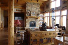 Mar conventional hybrid log accents Laramie Wyoming custom home builder (2) - Deerwood Log Homes - Custom Built Homes and Cabins - Laramie, Wyoming and The Centennial Valley - deer-wood.com - (307) 742-6554