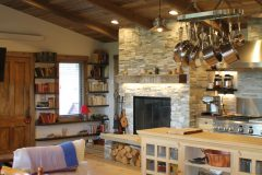Gard renovation remodel timber accents Albany Wyoming custom home builder handcrafted (9) - Deerwood Log Homes - Custom Built Homes and Cabins - Laramie, Wyoming and The Centennial Valley - deer-wood.com - (307) 742-6554