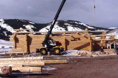 Dool chink style log shell Laramie Wyoming custom home builder handcrafted (2) - Deerwood Log Homes - Custom Built Homes and Cabins - Laramie, Wyoming and The Centennial Valley - deer-wood.com - (307) 742-6554