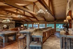 BuckBunk log timber frame post & beam hybrid Centennial Wyoming custom home builder (5) - Deerwood Log Homes - Custom Built Homes and Cabins - Laramie, Wyoming and The Centennial Valley - deer-wood.com - (307) 742-6554
