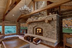 BuckBunk log timber frame post & beam hybrid Centennial Wyoming custom home builder (9) - Deerwood Log Homes - Custom Built Homes and Cabins - Laramie, Wyoming and The Centennial Valley - deer-wood.com - (307) 742-6554