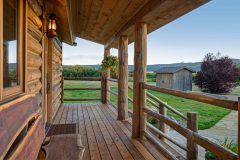 BuckExt log timber frame post & beam hybrid Centennial Wyoming custom home builder (4) - Deerwood Log Homes - Custom Built Homes and Cabins - Laramie, Wyoming and The Centennial Valley - deer-wood.com - (307) 742-6554