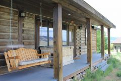 Gard log timber frame post & beam hybrid Albany Wyoming custom handcrafted home builder (1) - Deerwood Log Homes - Custom Built Homes and Cabins - Laramie, Wyoming and The Centennial Valley - deer-wood.com - (307) 742-6554