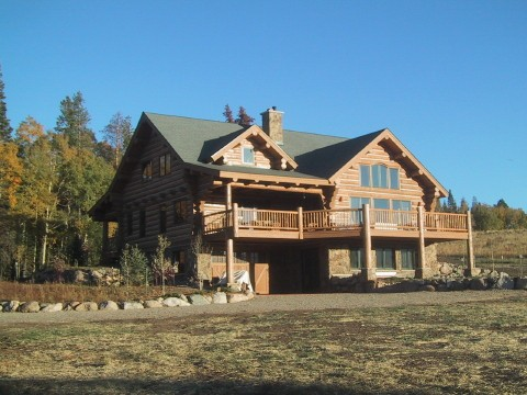 Writ chink style log Steamboat Springs Colorado custom home builder handcrafted details (2) - Deerwood Log Homes - Custom Built Homes and Cabins - Laramie, Wyoming and The Centennial Valley - deer-wood.com - (307) 742-6554