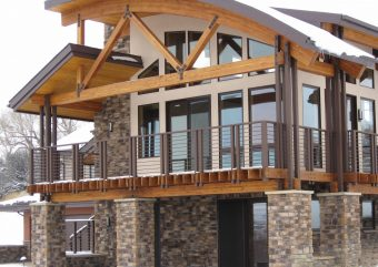 Rohr contemporary modern conventional timber accents Sheridan Wyoming custom home builder (2) - Deerwood Log Homes - Custom Built Homes and Cabins - Laramie, Wyoming and The Centennial Valley - deer-wood.com - (307) 742-6554