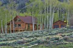 Star log timber frame post & beam hybrid Centennial Wyoming custom handcrafted home builder (4) - Deerwood Log Homes - Custom Built Homes and Cabins - Laramie, Wyoming and The Centennial Valley - deer-wood.com - (307) 742-6554